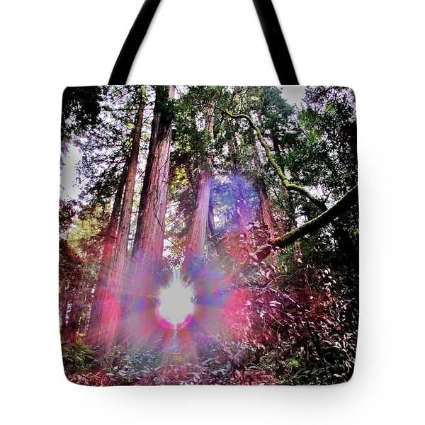 Bigfoot Into The Light Tote Bag