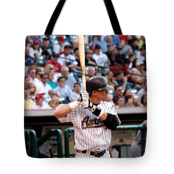 Tote Bag featuring the photograph Biggio At Bat by Teresa Blanton
