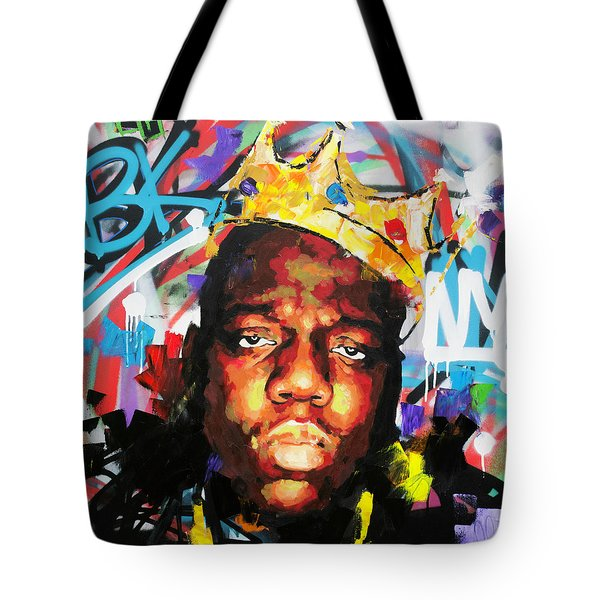 Tote Bag featuring the painting Biggy Smalls IIi by Richard Day