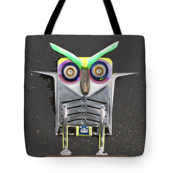 Big Eyebrow Owl Tote Bag