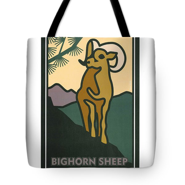 Bighorn Sheep Tote Bag