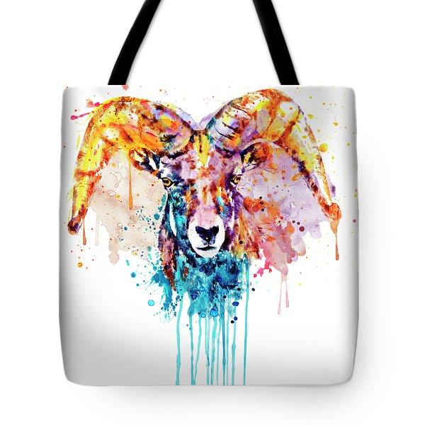 Bighorn Sheep Portrait Tote Bag