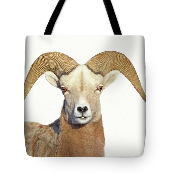 Tote Bag featuring the photograph Bighorn Sheep Ram by Jennie Marie Schell