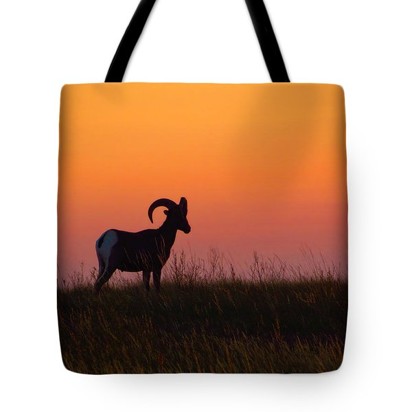 Bighorn Sunset Tote Bag