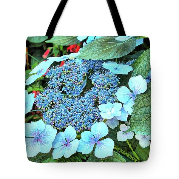 Tote Bag featuring the photograph Bigleaf Hydrangea by Richard Goldman