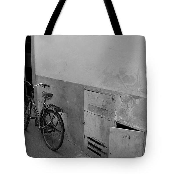 Bike In Alley Tote Bag