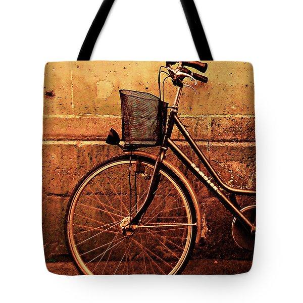 Bicycle At Rest, Paris  Tote Bag