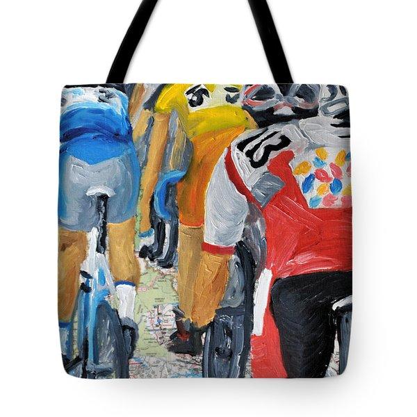 Bike Map 2 Tote Bag by Michael Lee