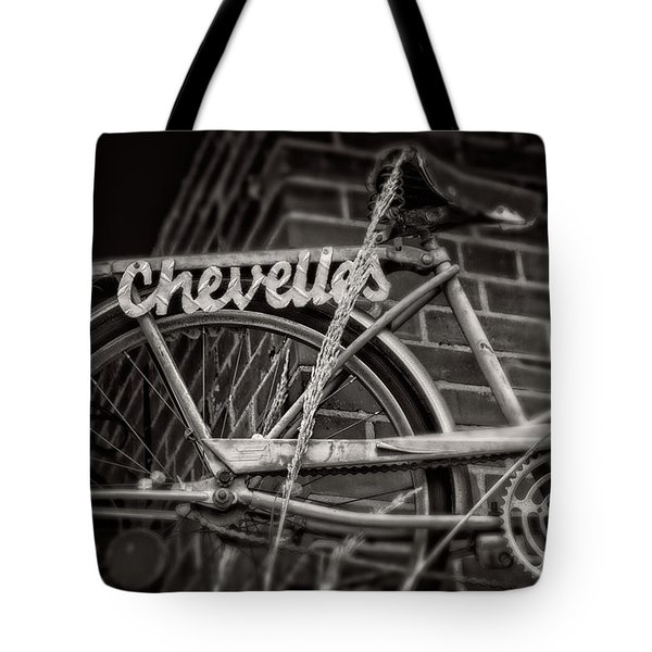 Bike Over Chevelles Tote Bag