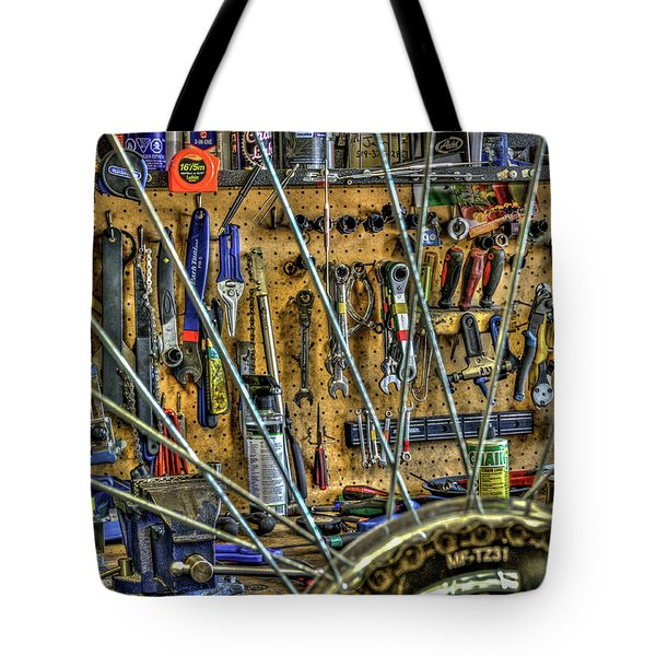 Bike Repair Shop Tote Bag