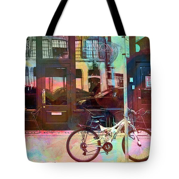 Tote Bag featuring the digital art Bike Ride To Runyons by Susan Stone