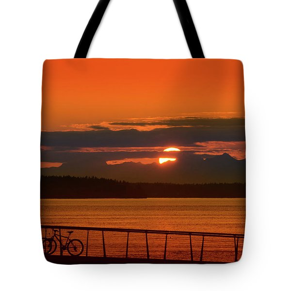Bike Sunset Tote Bag