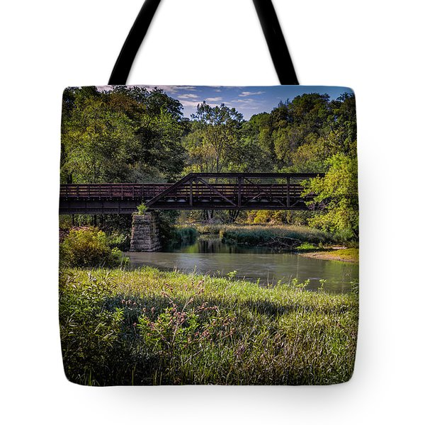 Bike Trail Bridge Near Lanesboro Mn Tote Bag