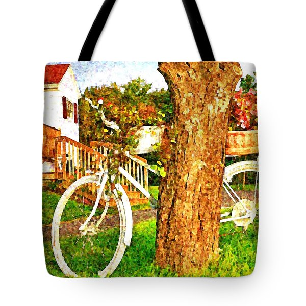 Bike With Flowers Tote Bag