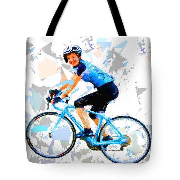 Tote Bag featuring the painting Biker 1 by Movie Poster Prints