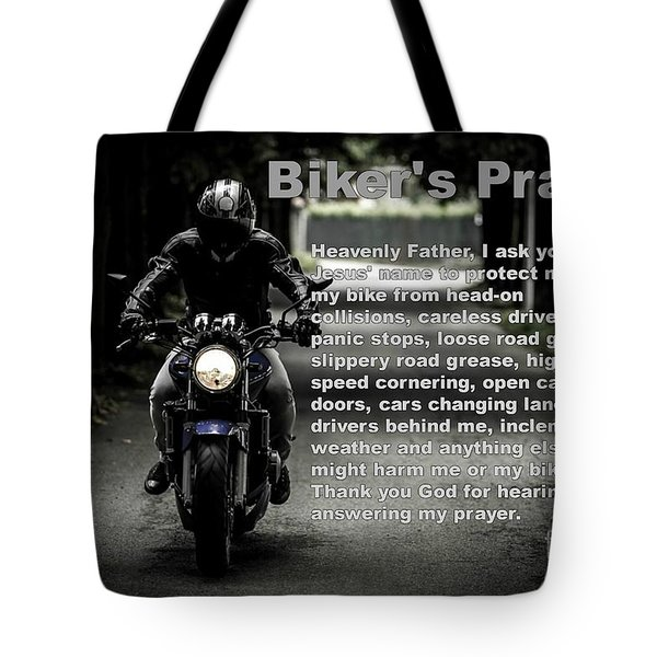 Biker's Petition For Protection Tote Bag