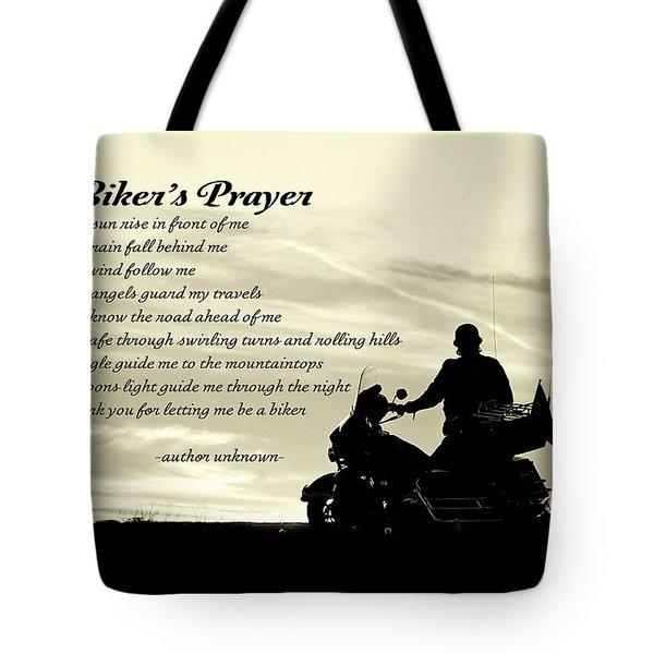 Biker's Prayer Tote Bag