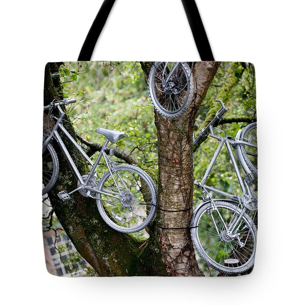 Bikes In A Tree Tote Bag