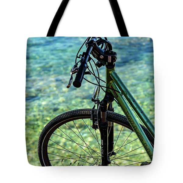 Biking The Rovinj Coastline - Rovinj, Istria, Croatia Tote Bag