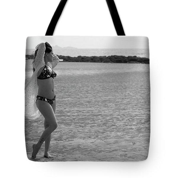 Bikini Girl Tote Bag by Kiran Joshi