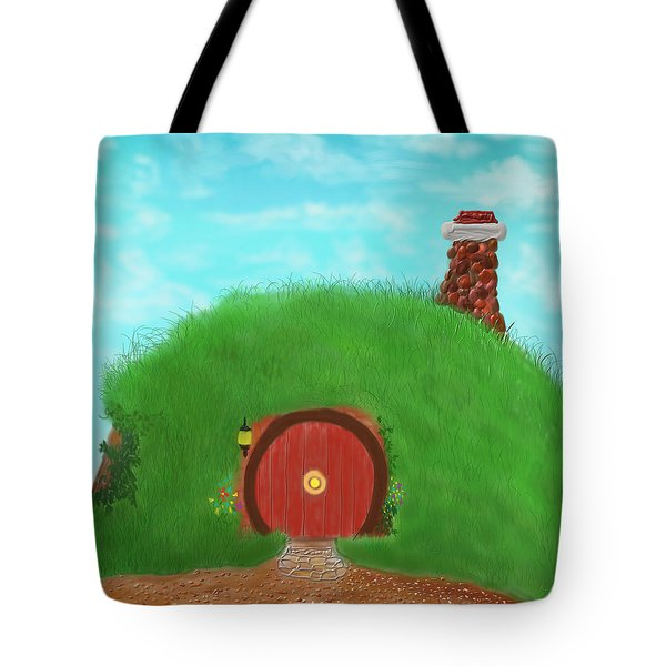 Bilbo's Home In The  Shire Tote Bag by Kevin Caudill