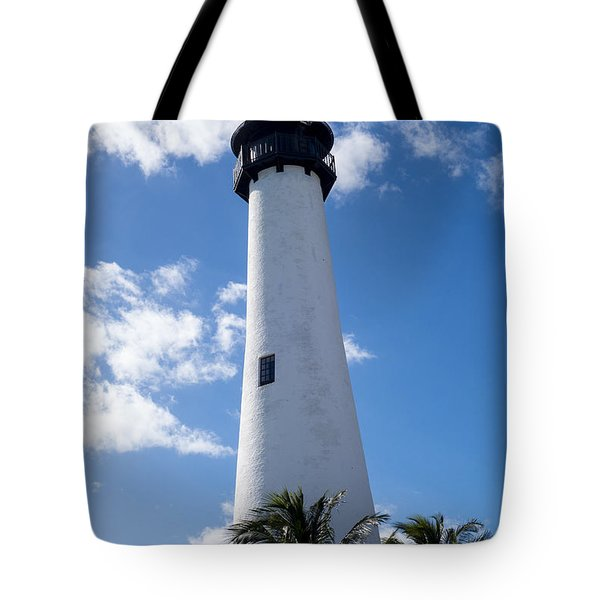 Bill Baggs Lighthouse Cape Florida State Park Palm Trees Tote Bag