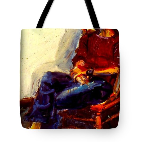 Tote Bag featuring the painting Bill Odbert by Les Leffingwell