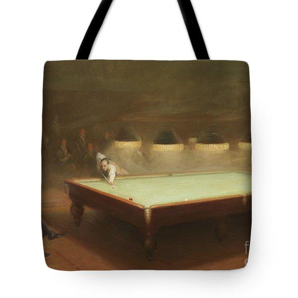 Billiard Match At Thurston Tote Bag by English School