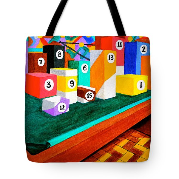Tote Bag featuring the painting Billiard Table by Cyril Maza