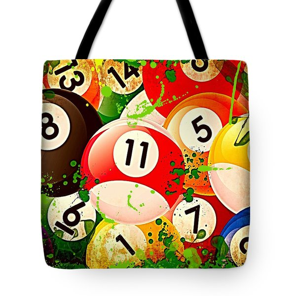 Billiards Collage Tote Bag by David G Paul