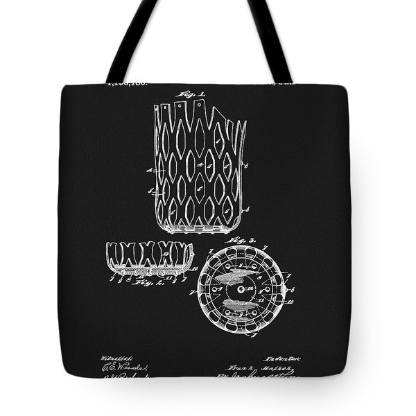 Tote Bag featuring the mixed media Billiards Table Pocket Patent by Dan Sproul