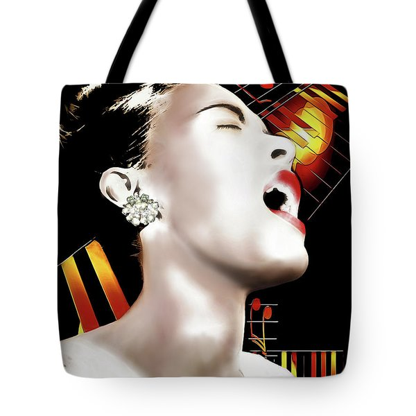 Billie Holiday Tote Bag by Pennie McCracken