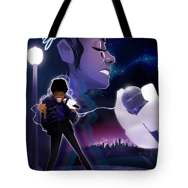 Tote Bag featuring the digital art Billie Jean 2 by Nelson dedos Garcia