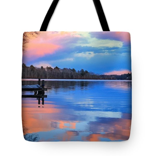 Billington Sea Sunset Tote Bag