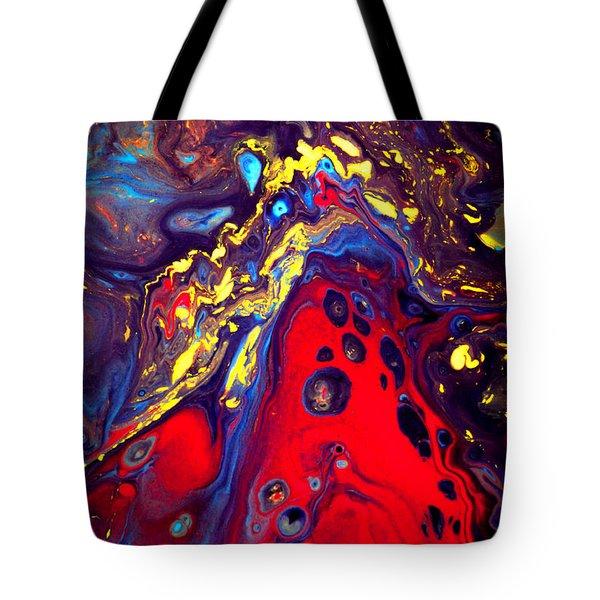 Billion Stars Hotel  - Abstract Colorful Mixed Media Painting Tote Bag