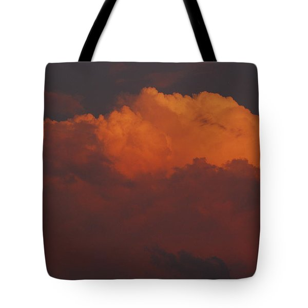 Billowing Clouds Sunset Tote Bag