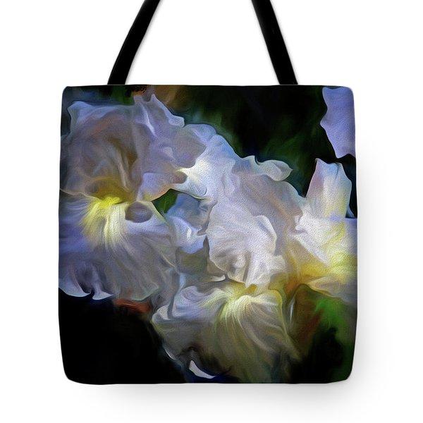 Billowing Irises Tote Bag