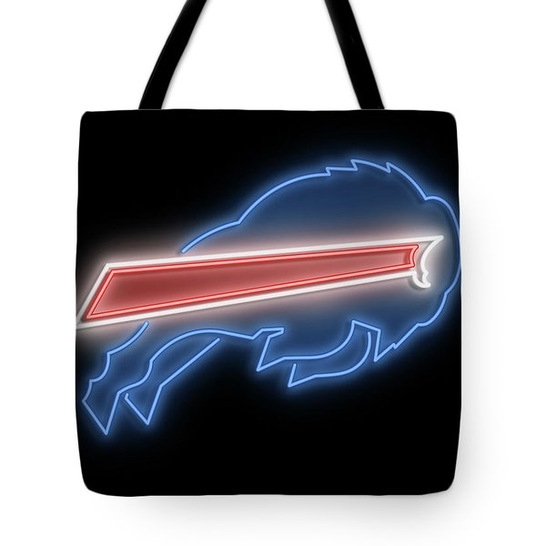 Bills Neon Sign Tote Bag
