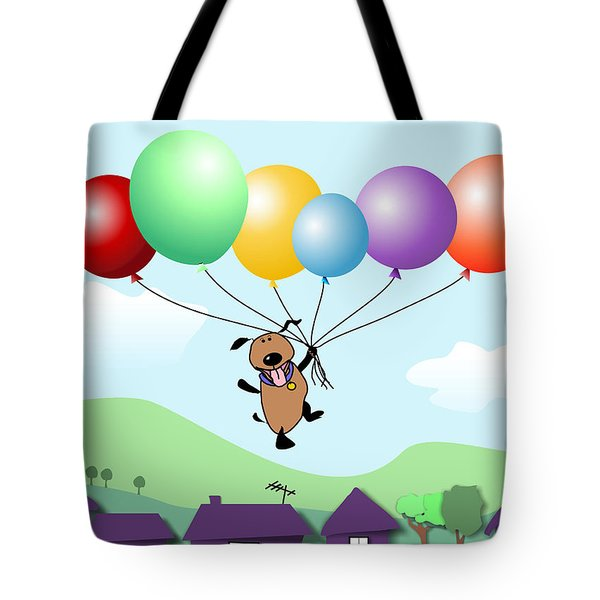 Billy Above The Rooftops Tote Bag by Arline Wagner