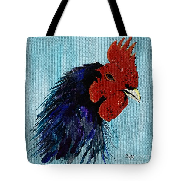Tote Bag featuring the painting Billy Boy The Rooster by Janice Rae Pariza