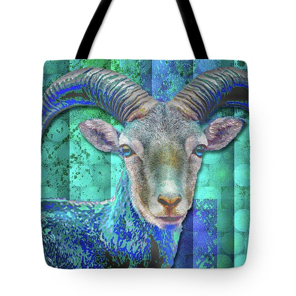 Billy Goat Blue Tote Bag