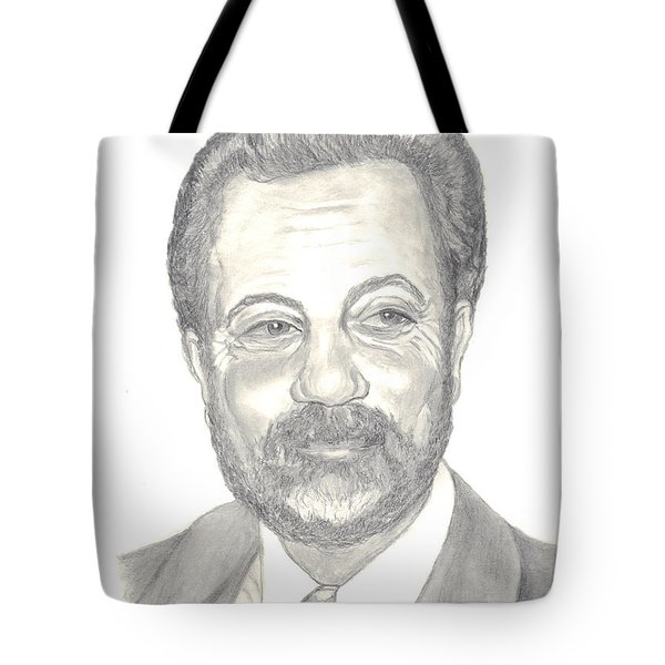 Billy Joel Portrait Tote Bag by Carol Wisniewski