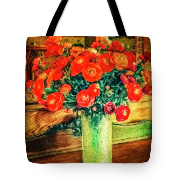 Billy's Flowers Tote Bag