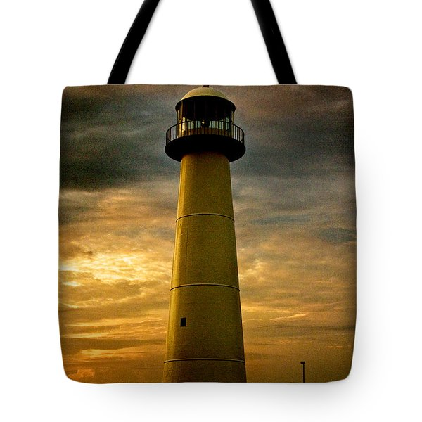 Biloxi Lighthouse - Sunrise Tote Bag