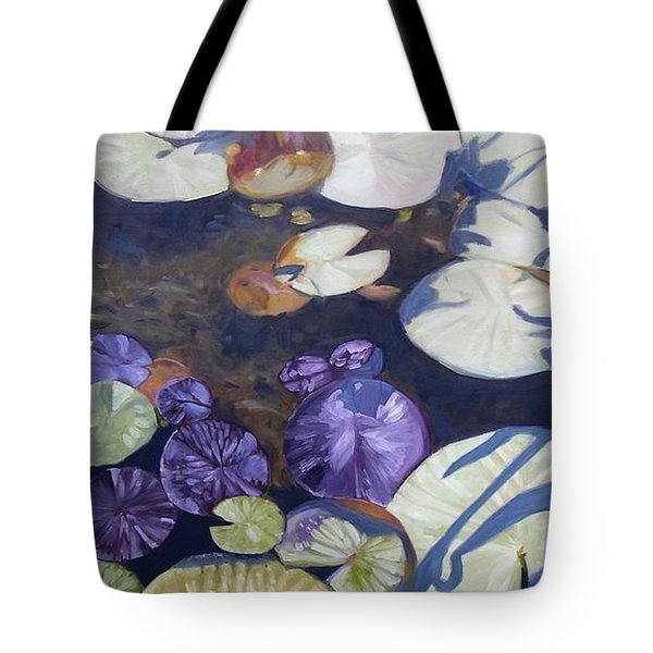 Tote Bag featuring the painting Biltmore Lilypads by Robert Decker