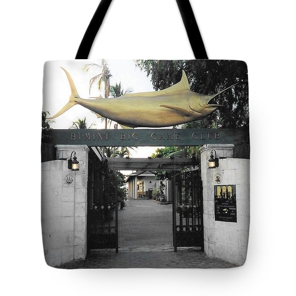 Bimini Big Game Club Tote Bag