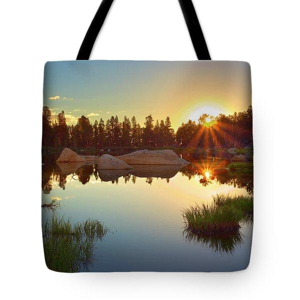 Binary Sunrise Tote Bag