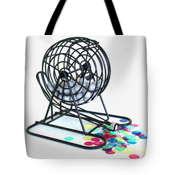 Bingo Cage Tote Bag by Allan  Hughes