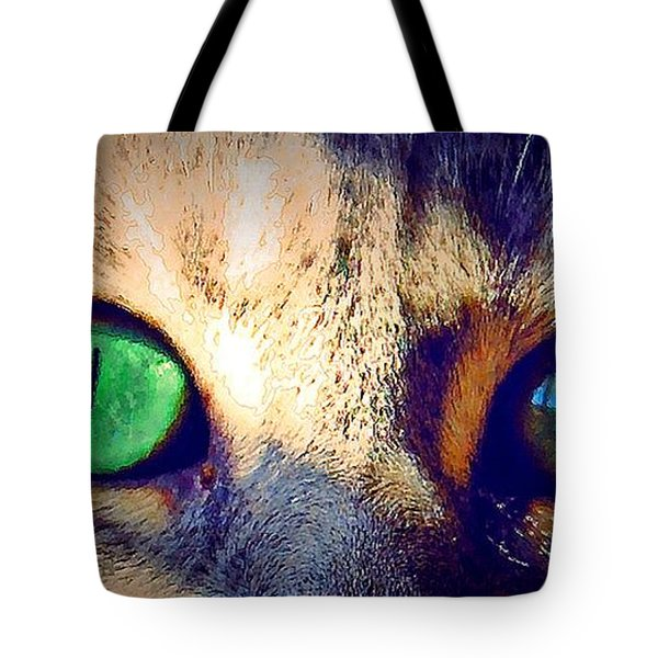 Tote Bag featuring the photograph Bink Eyes by Donna Bentley