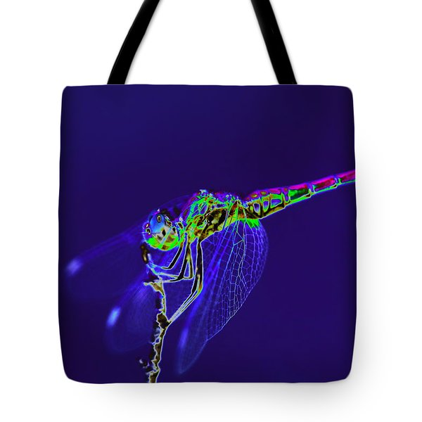 Bioluminescent Dragonfly Tote Bag by Richard Patmore